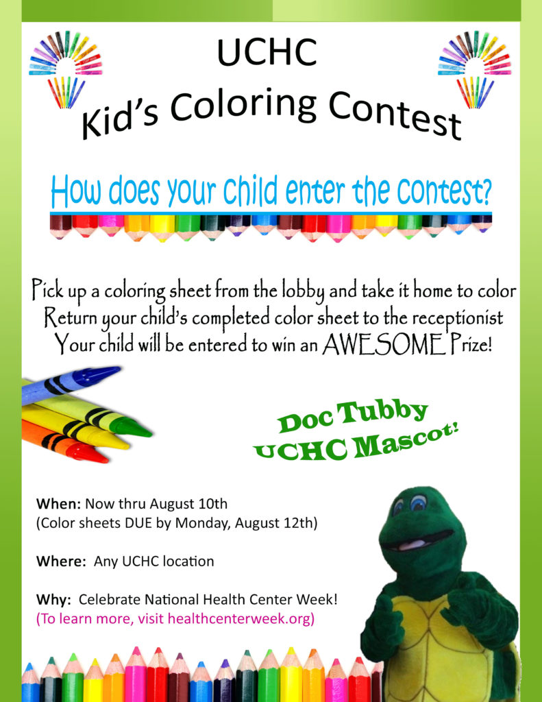 Kids Coloring Contest! – United Community Health Center